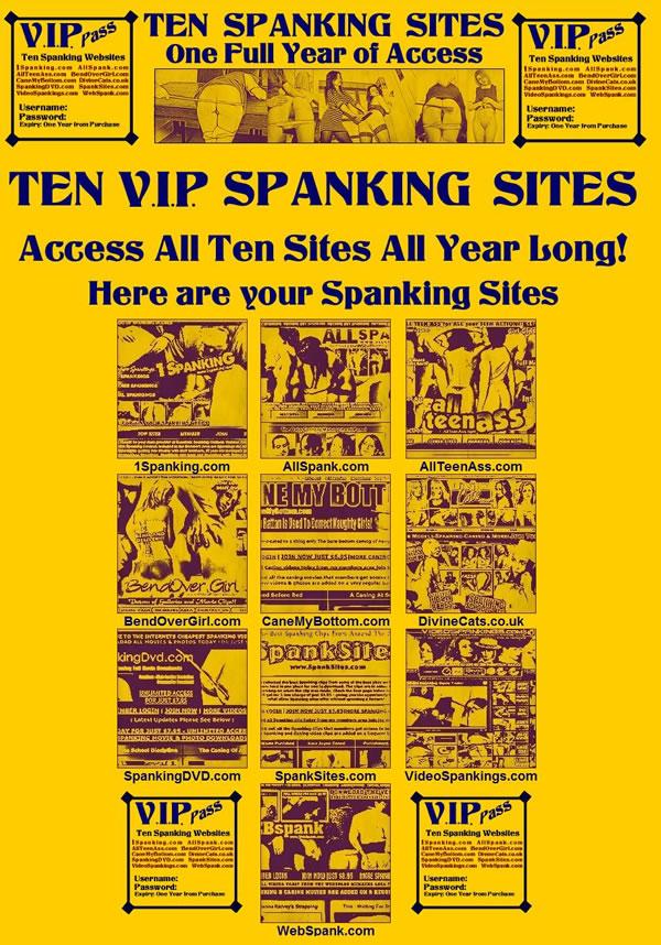 V.I.P. Ten Site 1 Year Spanking Pass